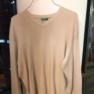 United colors of Benetton Tan V neck sweater